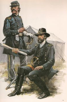 UNION ARMY STAFF OFFICERS.