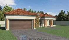 3 Bedroom House Plans South Africa | House Designs | NethouseplansNethouseplans House Plans For Sale, Free House Plans, House Plans With Photos, Garage House Plans, Small House Plans, House Floor Plans, 3 Bedroom Home Floor Plans, Three Bedroom House Plan, Bedroom House Plans