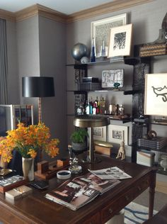 David Scott's gentleman's study at the Kips Bay Showhouse 2012