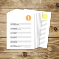 Free Printable! Ask the same 20 questions year after year (1-18, but probably age 3 or 4 is a great age to start) and see how your child's responses change year to year. Makes a great keepsake to give to them when they turn 18.