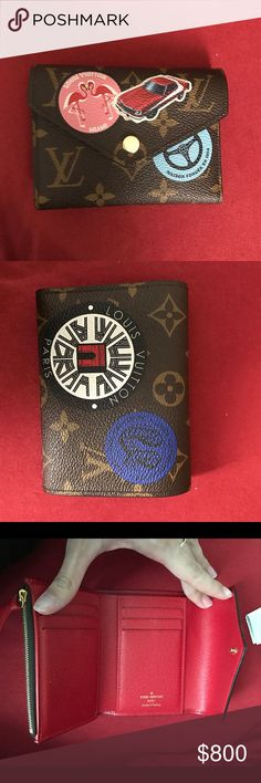 Louis Vuitton World Tour Victorine wallet Authentic victorine wallet brand new purchased in December. Comes with box, bag, dust bag and receipt if you would like it. This is sold out and hard to get your hands on Louis Vuitton Accessories