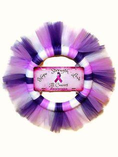 "Hope, Strength, Love All Cancers Awareness Wreath, 28"" Survivor, Find A Cure, Always Have Hope, Breast Cancer, Cervical Cancer, Cancer  $40"