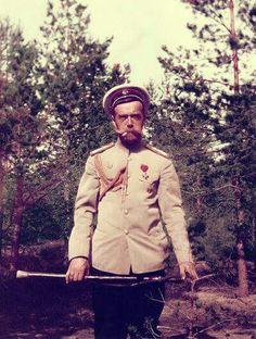 Tsar Nicholas ll of Russia (colourised).A♥W