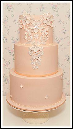 Best Cake Decorating Book Ever! http://www.amazon.com/gp/product/143918352X/ref=as_li_tl?ie=UTF8&camp=211189&creative=373489&creativeASIN=143918352X&link_code=as3&tag=alejanguerre-20&linkId=XJTFX462YWMZO4ZB - Elegant peach #WeddingCake