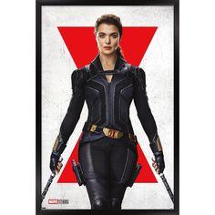 Trends International Marvel Black Widow - Melina One Sheet Framed Wall Poster Prints Black Framed Version 22.375
