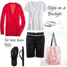Musselin Tote - my style - clothing - Shorts Spring Summer Fashion, Spring Outfits, Outfit Summer, Spring Style, Short Outfits, Cute Outfits, Red Outfits, Bermuda Shorts Outfit, Weekend Wear