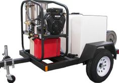 T185SK Trailer with SK30005VH Hot Mobile Pressure Washer Skid is rated at 3000 PSI @ 4.8 GPM from ETS Company http://www.shopetsonline.com/product-p/t185sk-sk30005vh.htm