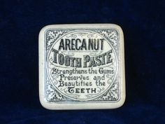 11271 - Old Pot Lid  Square Areca Nut tooth paste • £40.00