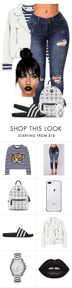 """Persistant"" by chiamaka-ikaraoha ❤ liked on Polyvore featuring Gucci, MCM, adidas Originals, MANGO and Michael Kors"