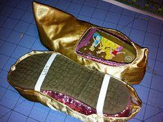Midwest Family Life: princess jasmine arabian shoe tutorial