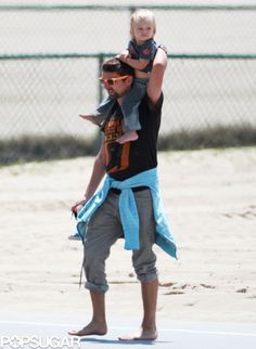 Matthew Bellamy & Bing in Santa Monica.