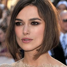 Make e cabelo long bob de Keira Knightley.