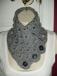 Beautiful Classy Soft Grey Neck Warmer Scarf by ClassicCreations2