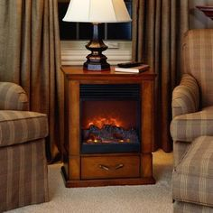 Small Fireplace With 1500W Heating Capabilities · Portable Electric ...