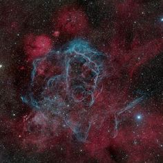 Vela Supernova Remnant by Marco Lorenzi - Deep Space Winner of National Geographic Best Astronomy Photos of 2011