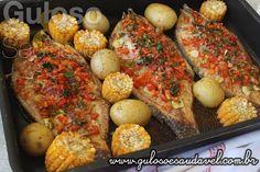 Bora experimentar esta delícia de Tilápia Assada com Vegetais? A aprovação é sempre unânime!!   #Receita aqui: http://www.gulosoesaudavel.com.br/2016/10/28/tilapia-assada-com-vegetais/
