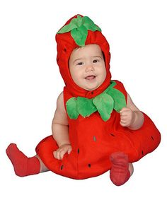 Happy Haunting: Kids' Costumes  -  Red Strawberry Dress-Up-Set - Infant - Zulily
