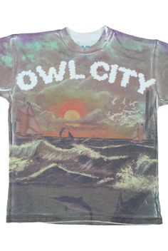 Ocean T-Shirt - Owl City T-Shirts - Official Online Store on District Lines