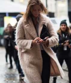 fluffy duck. #IrinaKulikova #offduty in London.