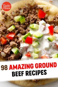 Hamburger Dishes, Hamburger Meat Recipes, Beef Dishes, Food Dishes, Veal Recipes, Beef Recipes For Dinner, Cooking Recipes, Ground Beef Recipes Easy, Ground Beef Recepies