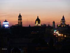 Atardecer de las iglesias en Celaya Guanajuato