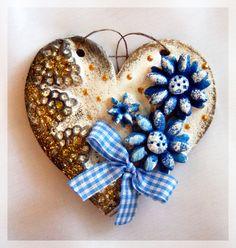 Salt Dough Heart 3d Wall Art, Salt Dough, Air Dry Clay, Beaches, Sculpting, Miniatures, Wall Decor, How To Make, Handmade