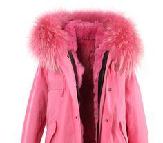 New Fashion women's army green Large raccoon fur collar hooded long coat parkas outwear rabbit fur lining winter jacket