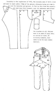 Men's button front trousers pattern. Costume Patterns, Doll Clothes Patterns, Sewing Clothes, Clothing Patterns, Sewing Patterns, Men Clothes, Historical Costume, Historical Clothing, Sailor Pants