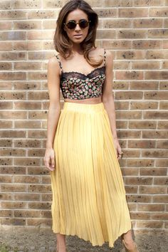 pleated skirt China Doll boutique