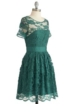 BB Dakota Adrift on a Cloud Dress in Emerald | Mod Retro Vintage Dresses | ModCloth.com