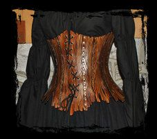 leather corset bark style by ~Lagueuse on deviantART  Omg this a beautiful