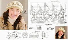 Katia Ribeiro Acessórios: Boinas, gorros em crochê com gráfico