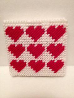 Handmade Plastic Canvas Valentine Post It Note Holder Pattern A