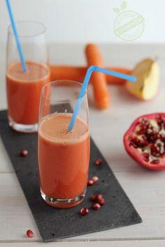 Estratto antiossidante: melograno carota e mela