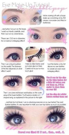 Dolly Eye Make up Tutorial #Various #Trusper #Tip