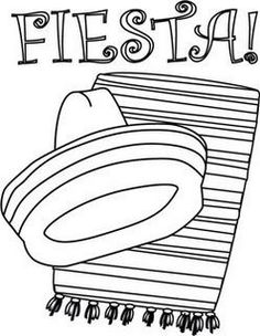 Enjoy these Fiesta Coloring Pages, many of them free printable coloring pages and crafts.    Set a festive tone for a childrens party with fiesta... #CincoDeMayo #fiesta