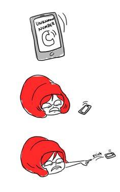 lol i do this anytime my phone rings, doesn't have to be unknown :-P