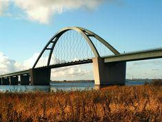 Fehmarn Sound Bridge, island in the Baltic Sea, Germany