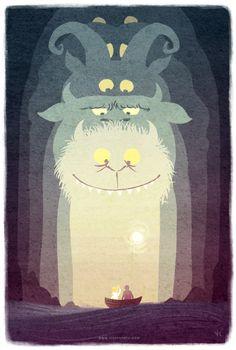Farewell Maurice Sendak Illustration – Vivienne To Maurice Sendak, Creative Poster Design, Creative Posters, Art And Illustration, Book Illustrations, Illustration Children, Monster Illustration, Creative Illustration, Creative Kids