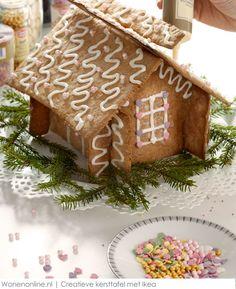 Een creatieve kersttafel met Ikea #kerstmis #interieur