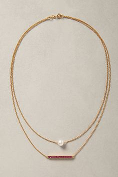 Perched Pearl Necklace