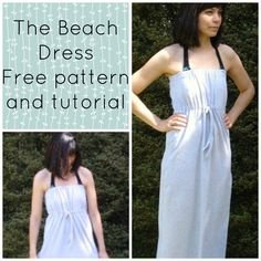 Free sewing pattern: how to make a beach dress tutorial