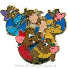disney cinderella mice pin