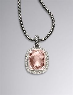 David Yurman 12X10MM Morganite Noblesse Necklace. Let the collection begin....from my future hubby that is. ;)