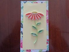Quilled Flower Card by Karen Miniaci. Quilling Supplies from 'Quilled Creations'