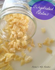 How To Make Your Own Dehydrated Potatoes ~ Fresh Potatoes All Year Long - Farmer's Wife Rambles