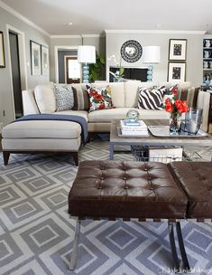 �I love the color palette...as I say keeping the big pieces neutrals you play with accessories to give that pop of excitement and feel invited to stay and enjoy!