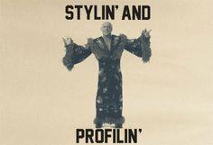 Premium Rick Ric Flair Woo Profiling Profilin and Stylin Styling Tee Tshirt T-Shirt hogan piper cena wwe wwf nwa