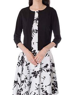 5ad8340d56f63 Women 3/4 Sleeve Shrug Open Front Cardigan Bolero Cotton Cardigan, Tunic  Tops,