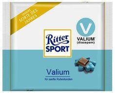 Was für die Arbeit? RITTER SPORT Fake Schokolade Valium